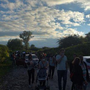 Caminata simbólica en defensa del Camino Provincial S-514, la cultura y la historia de Malagueño