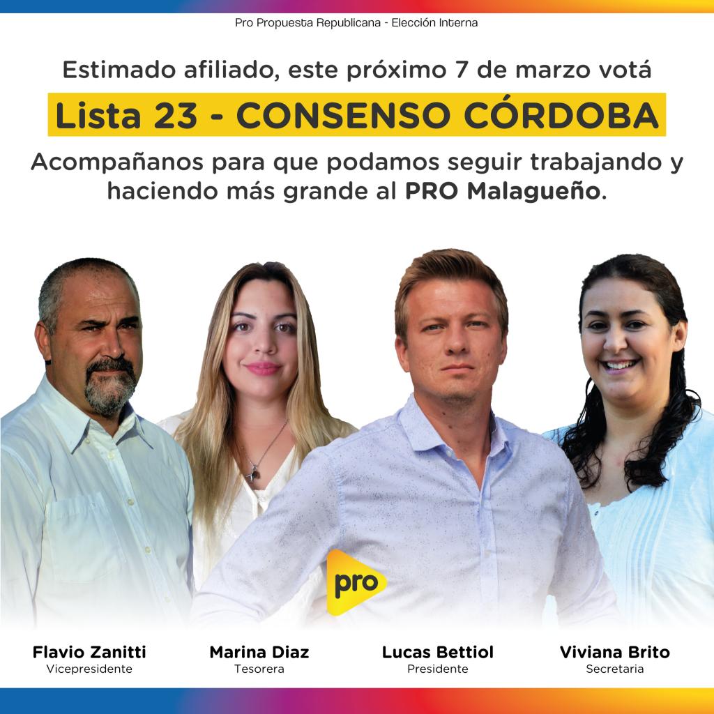 Internas PRO - Circuito Malagueñio - Junta Ejecutiva - Candidatos