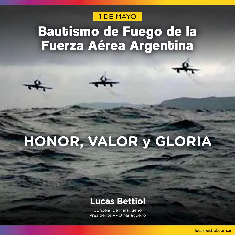 1 de Mayo - Bautismo de Fuego de la Fuerza Aérea Argentina