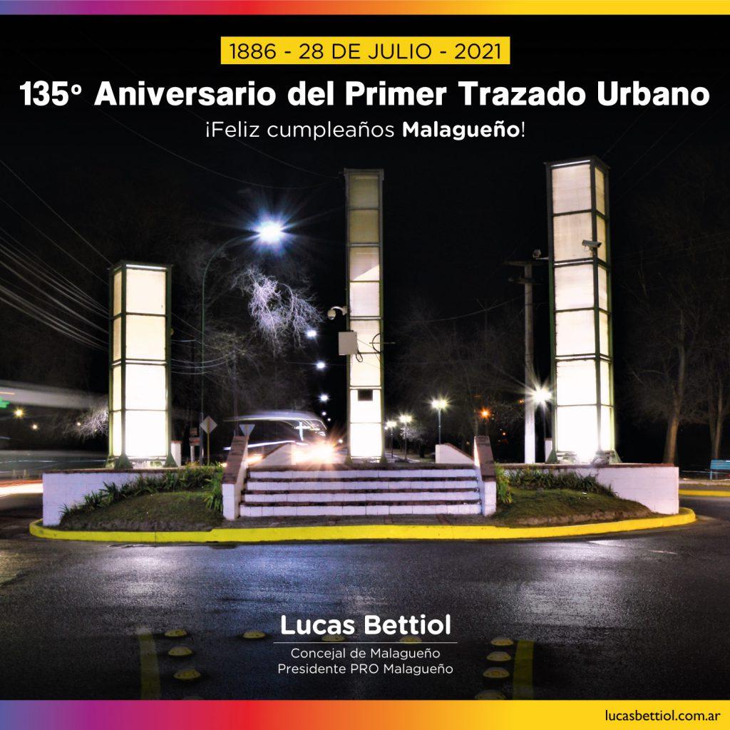 135º Aniversario del Primer Trazado Urbano de Malagueño